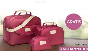 Reisetaschen-Set gratis erhalten