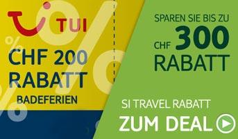 CHF 300.- gratis erhalten bei TUI-Deals