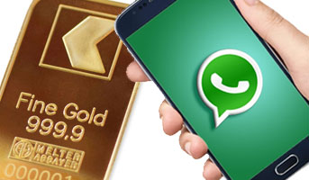 Goldbarren und Whatsapp