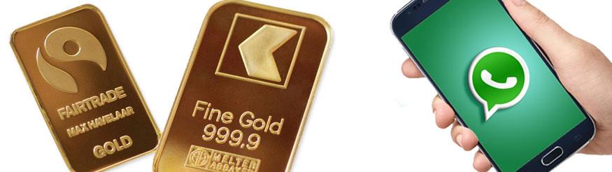 Goldbarren und WhatsApp