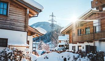 Haus im Winter in Tirol