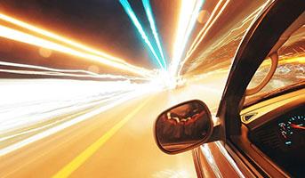Auto mit Lichtern
