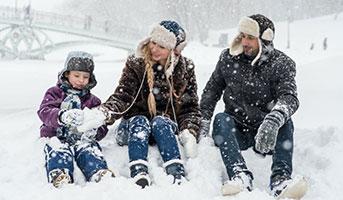 Personen im Schnee