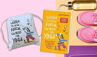 Buch und Yoga-Beutel