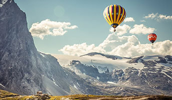 Alpenüberquerung mit Heissluftballon