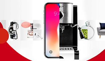 Kaffeemaschine und Smartphone