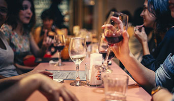 Personen im Restaurant